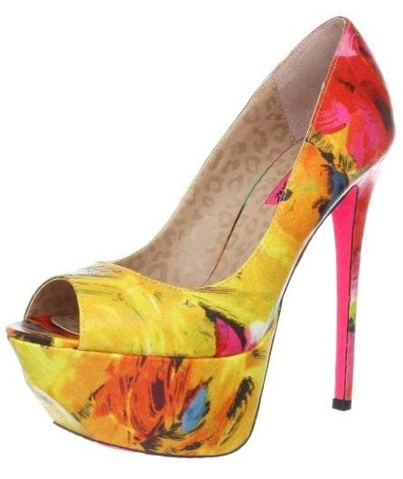 Betsey Johnson Bridgitt Floral-Print Pumps