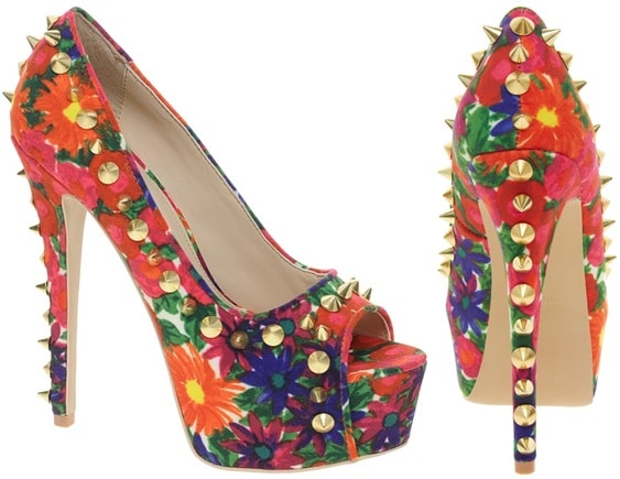Carvela Garland Multi-print Studded Platform Pumps