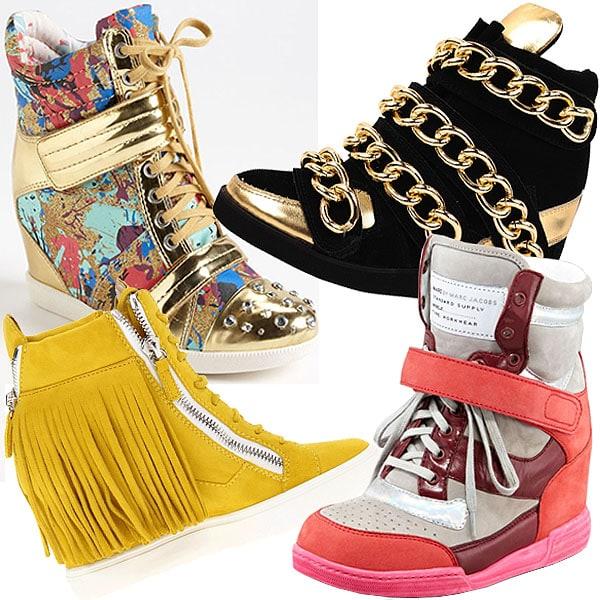 Crazy wedge sneakers