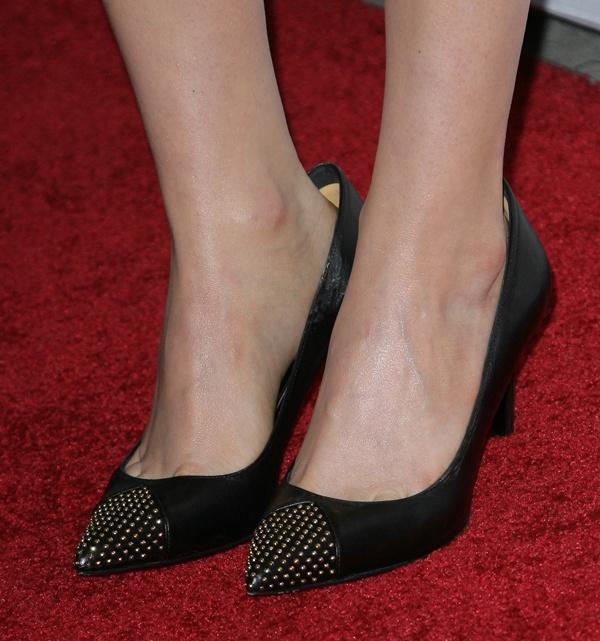 Ellen Page in studded Saint Laurent Janis heels