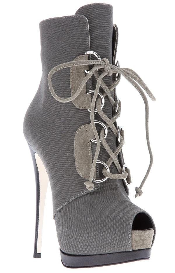 Giuseppe Zanotti Lace-Up Stiletto Boots