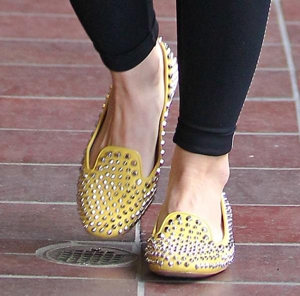 Hilary Duff wearing spiked Prada flats