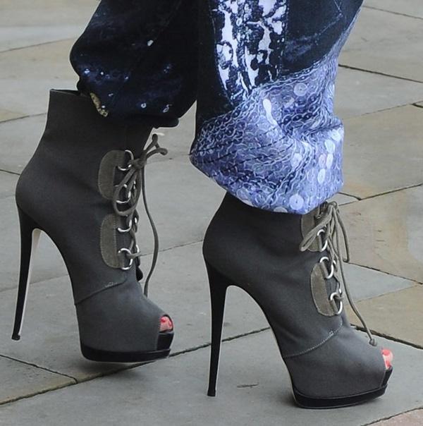 Iggy Azalea's Giuseppe Zanotti lace-up boots