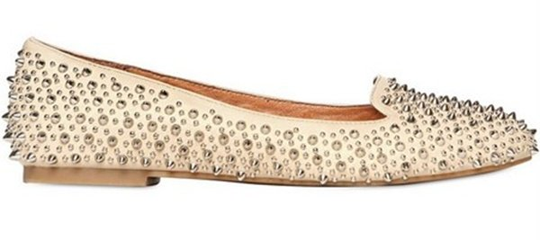 Jeffrey Campbell Leather Studded Loafers