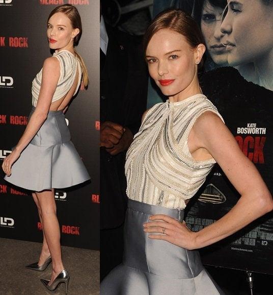Kate Bosworth attendsthe 'Black Rock'Premiere heldatArcLight HollywoodonMay 8,2013,inHollywood, California