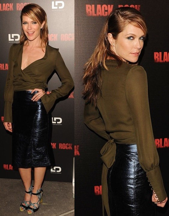 Katie Aselton attendsthe 'Black Rock'Premiere heldatArcLight HollywoodonMay 8,2013,inHollywood, California