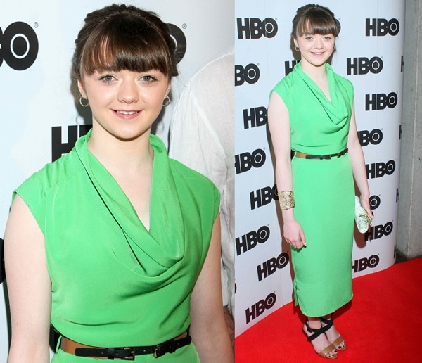 Actress Maisie Williams at a 'Game of Thrones' press conference in Warsaw, Poland on May 15, 2013