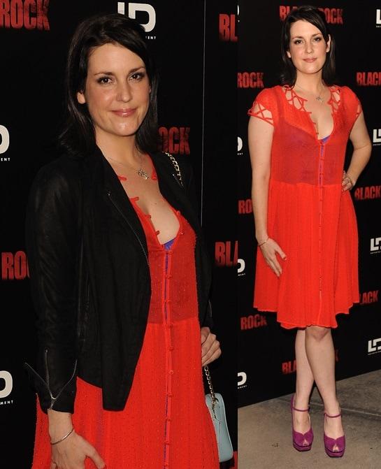 Melanie Lynskey attendsthe 'Black Rock'Premiere heldatArcLight HollywoodonMay 8,2013,inHollywood, California