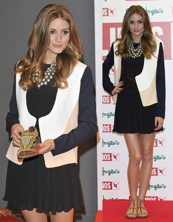 Olivia Palermo wearing Pikolinos at the presentation of the brand's new collection