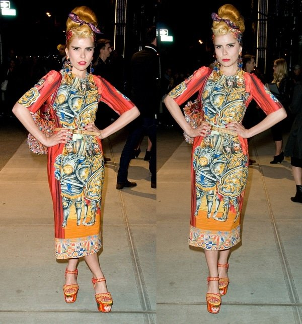 Paloma Faith at the Dolce & Gabbana Fifth Avenue flagship store opening