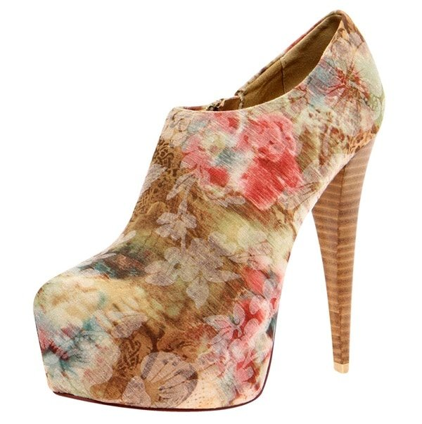 Pippa Floral-Print Ankle Boots