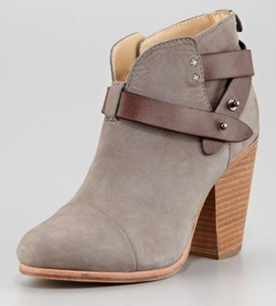 Rag & Bone Harrow Ankle Boots in Gray