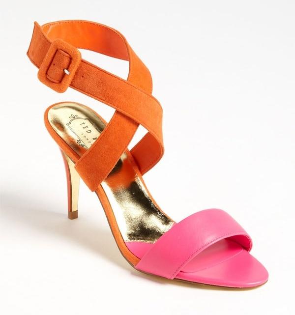 """Ted Baker """"Jolea"""" Sandals in Orange/Pink"""