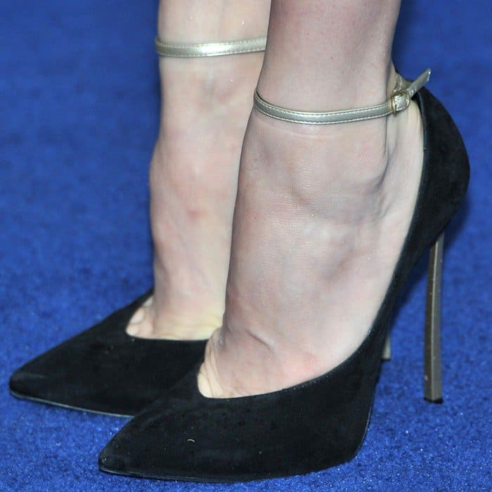 Amy Adams wearing Casadei heels at the 'Man of Steel' European Premiere held at the Empire Leicester Square in London