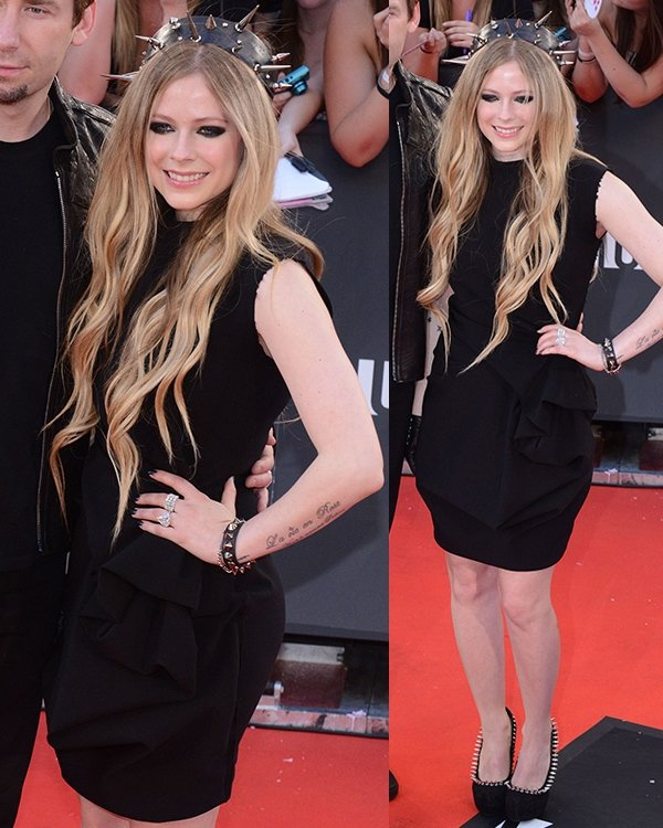 Avril Lavigne was a glam rock princess at the 2013 MuchMusic Video Awards