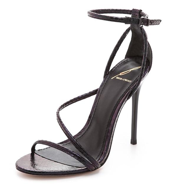 "B Brian Atwood ""Labrea"" Sandals in Black/Black"