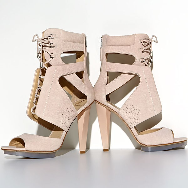 B Brian Atwood Sporty Lace-Up Leather Sandals