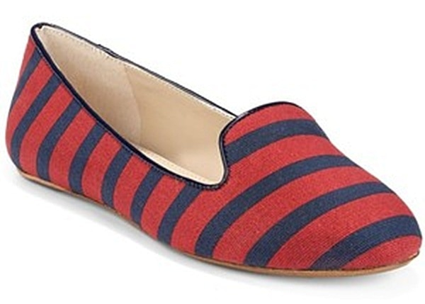 "BLUE ""Brody"" Striped Canvas Smoking Slippers"