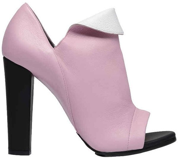 Pink Leather Balenciaga Revers Booties