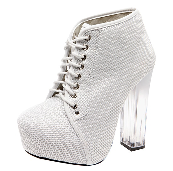 Boohoo Rhianna Perspex Heel Boots