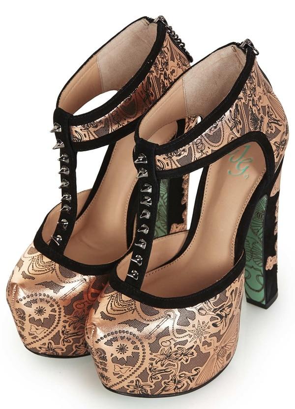 CJG pot of gold platform heels
