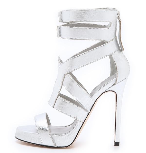 Camilla Skovgaard Platform Metallic Sandals1