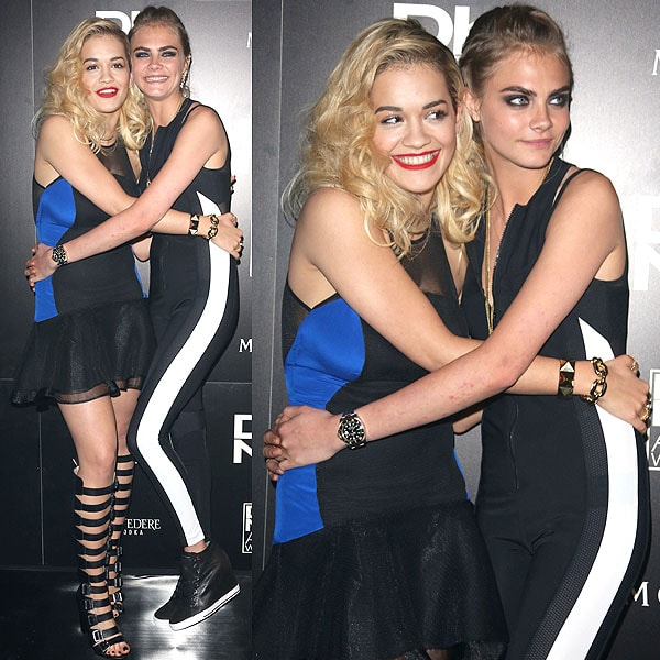 Cara Delevingne Rita Ora DKNY artworks launch