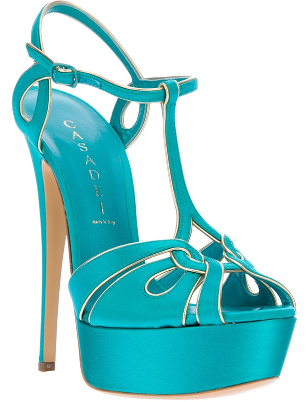 Casadei Ankle Strap Sandals Turquoise