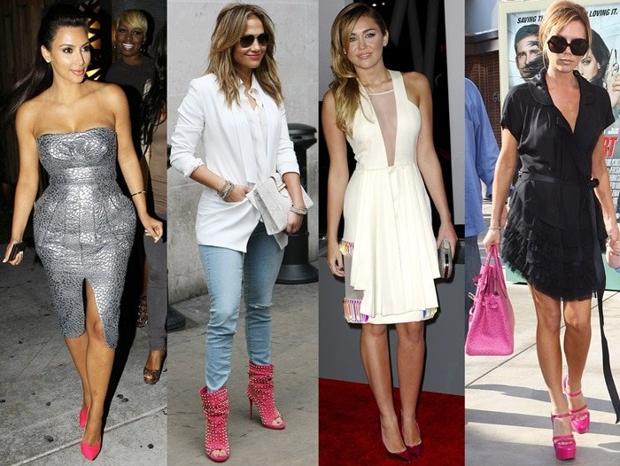 Celebrities wearing pink shoes