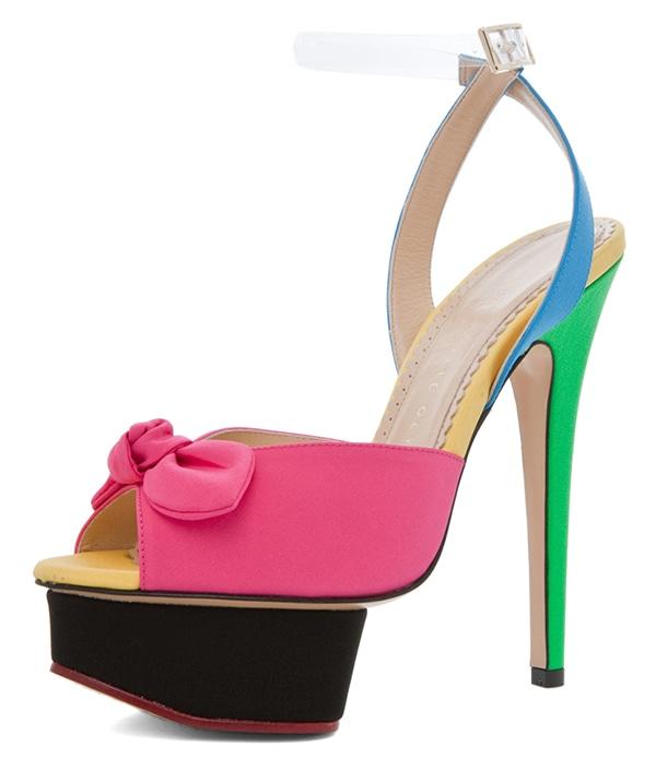 Charlotte Olympia Serena Sandals in Multicolor