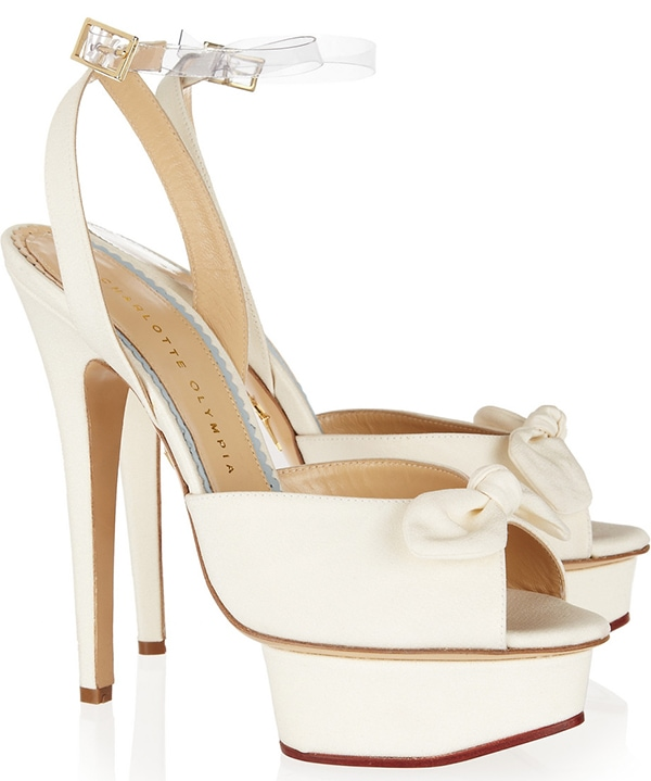 Charlotte Olympia Serena Sandals in White