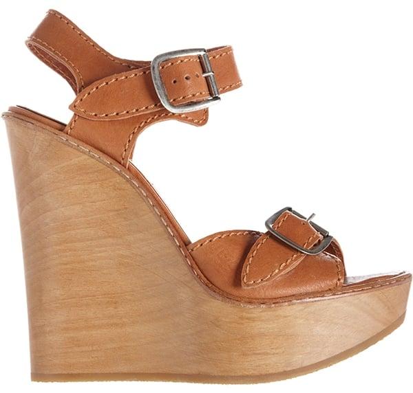 Chloe Buckle Strap Wedge Sandals1