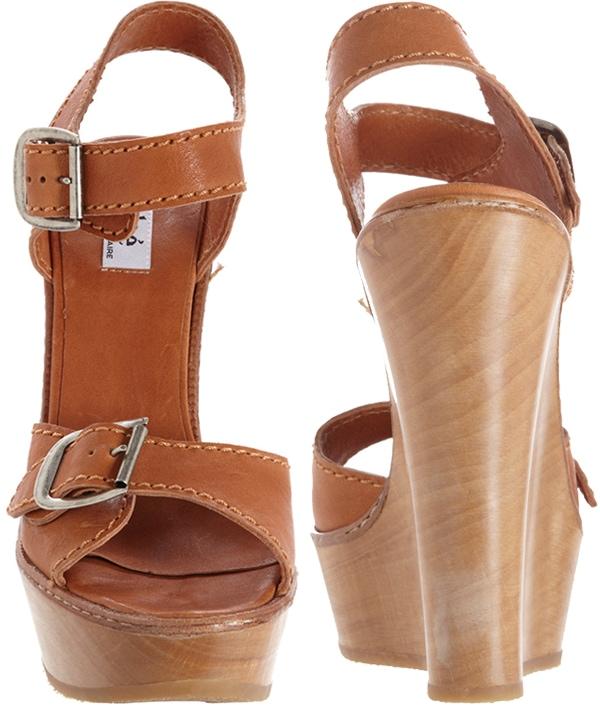 Chloe Buckle Strap Wedge Sandals