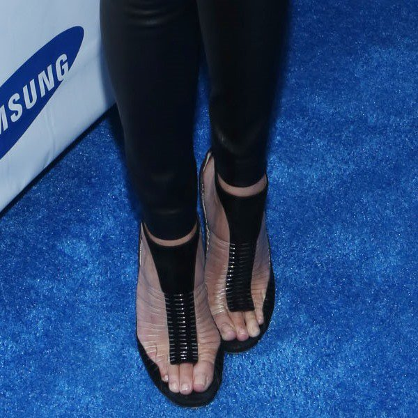 Chrissy in suede and wired t-strap Jimmy Choo sandals