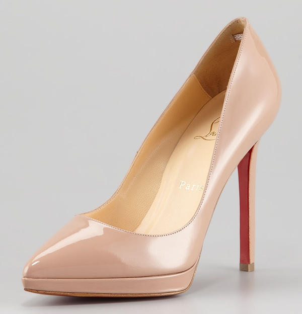Christian Louboutin Pigalle Plato Pumps Nude