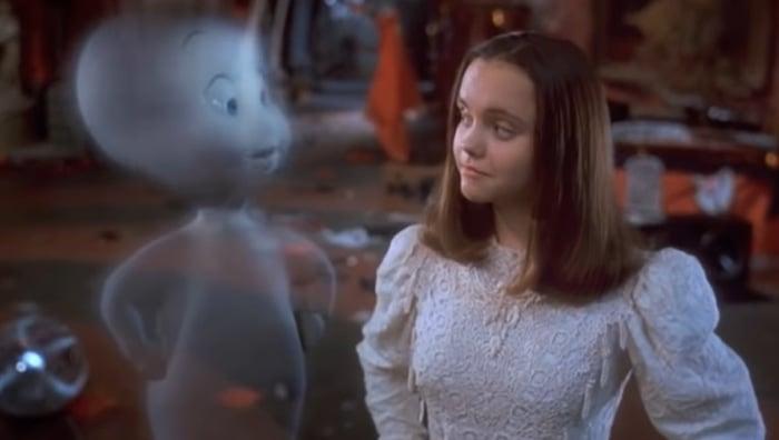 "Christina Ricci as Casper's 13-year-old love interest Kathleen ""Kat"" Harvey"