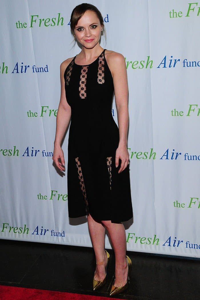 "Christina Ricci flaunts her sexy legs at The Fresh Air Fund's ""Salute to American Heroes"" event"