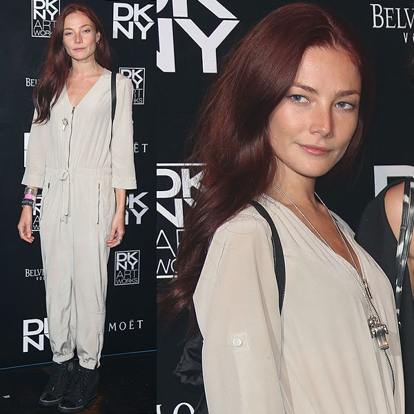 Clara Paget DKNY Artworks Launch