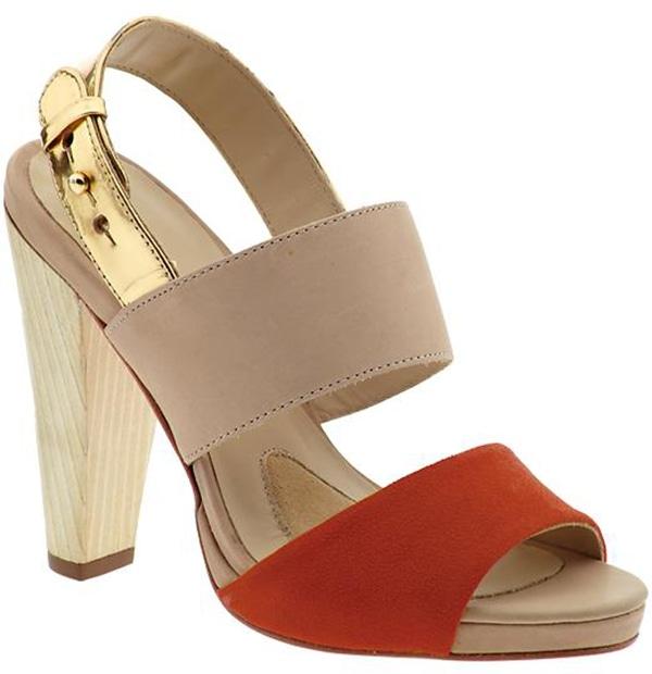 """Coye Nokes """"Hana"""" Sandals in Tangerine"""