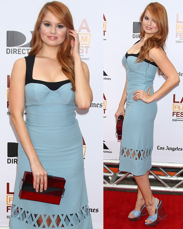 Debby Ryan flaunted her legs at The Way Way Back premiere