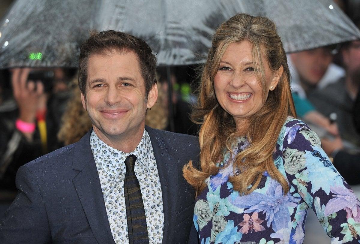 Deborah Snyder (née Johnson) and her husband Zack Snyder at the London premiere of Man of Steel