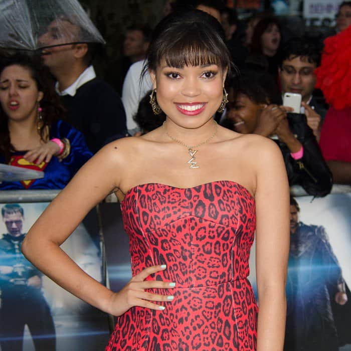 Dionne Bromfield at the 'Man of Steel' European Premiere held at the Empire Leicester Square in London, June 12, 2013
