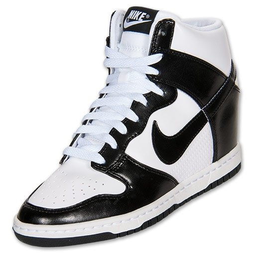 Nike 'Dunk Sky High' Leather Casual Shoes in White/Black