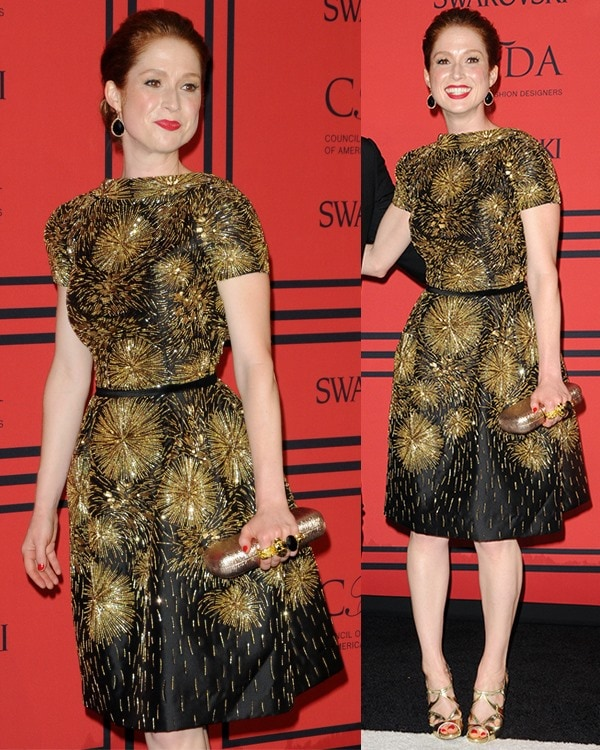 Ellie Kemper attends the 2013 CFDA Awards
