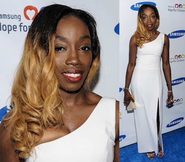 Estelle not looking her best at the Samsung Hope for Children Gala in New York City on June 11, 2013
