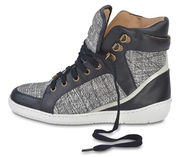 Gerard Darel Tweed Leather Sneakers