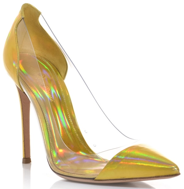 Gianvito Rossi Leather and PVC Shoes Hologram