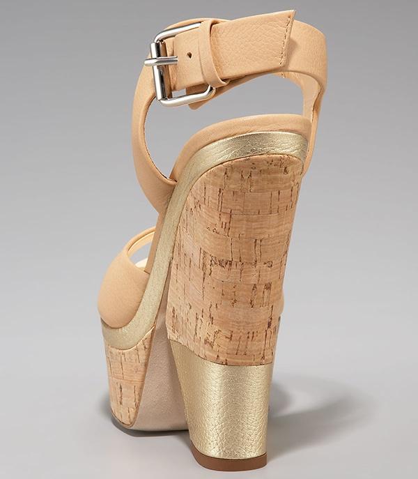 Giuseppe Zanotti Ankle-Wrap Cork-Wedge Sandals