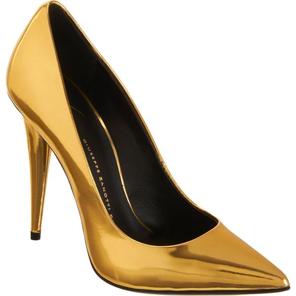 Giuseppe Zanotti Cone Heel Pumps Gold