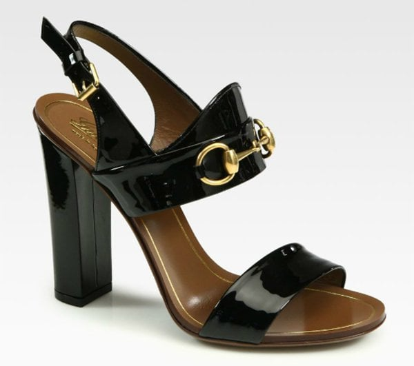 "Gucci ""Alyssa"" Patent Leather Sandals"